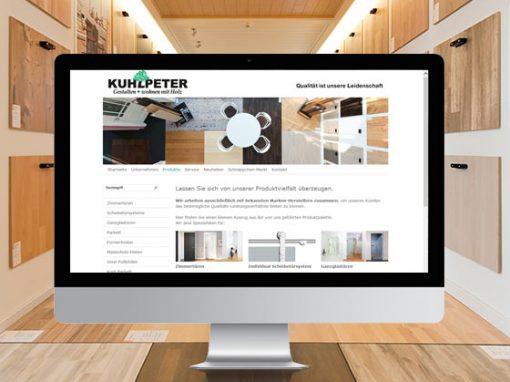 Kuhlpeter<br> Firmenpräsentation mit Typo3